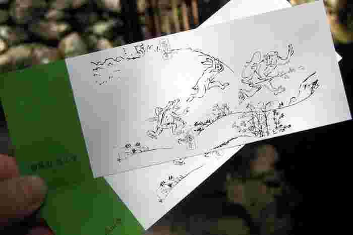 【『鳥獣人物戯画』があしらわれた高山寺の入山券】