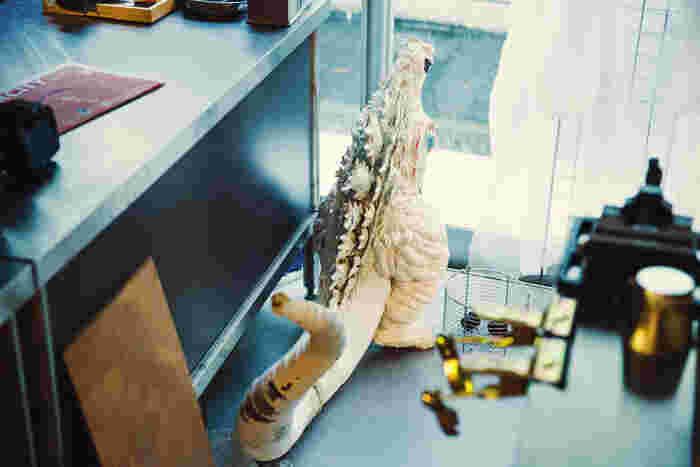 岩松さんが趣味で作っている『ゴジラ』のオブジェ。もちろん非売品