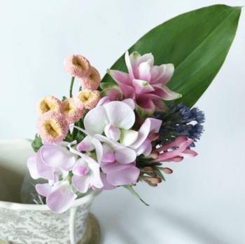 お花のボリュームやお届けのペースなど、ライフスタイルに合わせて3つのプランから選べます。初めての方には様々な暮らしのシーンに馴染む「レギュラープラン」800円(送料別)がおすすめ。週末に届くよう、全国のお花屋さんから専用ボックスに入ったお花が発送されます。