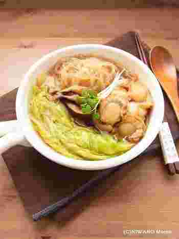 大きな白菜と出汁がたっぷり出るホタテのごちそう煮込み❤味付けはオイスターソースがポイント!