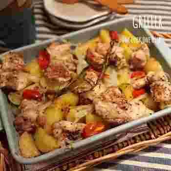 鶏肉と野菜に塩こしょうをしただけのシンプルな味つけですが、凝縮された鶏肉の旨みで、野菜も美味しくなりますよ。