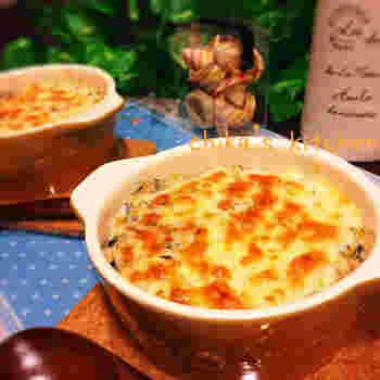 こちらは味噌だけでなくひじきの煮物とお豆腐も使ったヘルシードリア。ダイエット中でも気兼ねなく食べられそうですね。