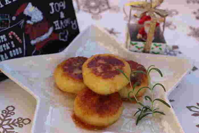 お好みのチーズを入れて、食べ応えUP!もちもちトロットロのいももちです。