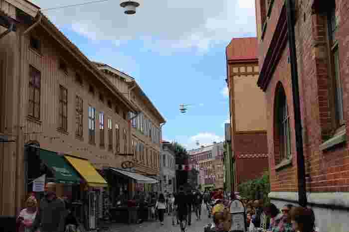 ヨーテボリのガムラスタンとも言える旧市街といえばハーガ地区。  もともとは労働者のスラム街でしたが、時の流れとともに開発が進み、今ではおしゃれなショップが立ち並ぶ流行スポットになっています。