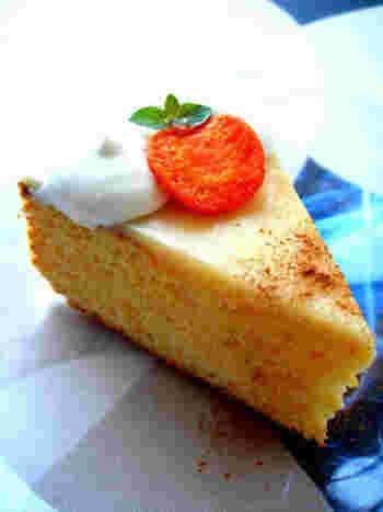 こちらは、ホワイトチョコレートを使用したザッハトルテ?のレシピ。こんな面白いアレンジができるのも、手づくりならではですね♪