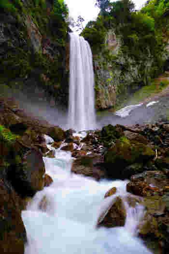 平湯温泉近郊には、「日本の滝100選」「岐阜県の名水50選」に選定されている平湯大滝があります。落差64メートル、幅6メートルの大滝が轟音を鳴らしながらしぶきを散らす様は壮観です。平湯温泉を訪れるときは、平湯大滝も一緒に訪れてみてはいかがでしょうか。