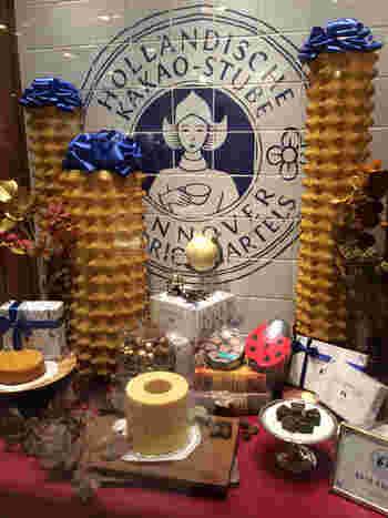 バウムクーヘンで有名な「HOLLANDISCHE KAKAO-STUBE(ホレンディッシェ・カカオシュトゥーベ)」。バター以外の油脂を使っていなかったり、ベーキングパウダーを使っていなかったり、と無添加のバウムクーヘンです。