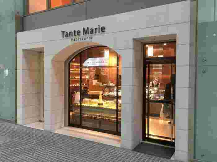 丸ノ内線の東京駅直結、丸の内OAZO(オアゾ)1階にある「Tante Marie(タント・マリー)」は、湯島に本店を構える人気のパティスリーです。