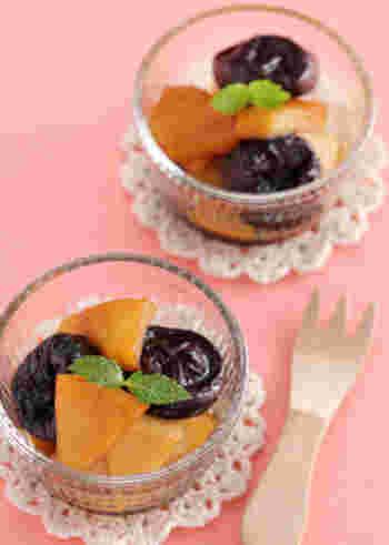 紅茶×プルーンの組み合わせは意外と人気なんですよ。じっくり煮詰めてプルーンとりんごに紅茶をしみ込ませて、フルーティーな味わいと紅茶の香りを楽しみましょう。