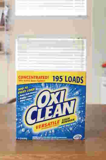 酸素系の粉末漂白剤があれば、洗濯槽掃除に代用できます。オキシクリーンのような酸素系漂白剤が使えますよ。専用の洗濯槽クリーナーよりも割安で使えるメリットもあります。1度の掃除におよそ500gの酸素系漂白剤を使いましょう。