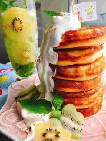 甘くておいしいお砂糖は摂り過ぎると、身体を錆びつかせてしまいます。お砂糖なしでも、フルーツの自然な甘みと塩味でヘルシーに。みんなが大好きなパンケーキは、朝ごはんやおやつにぴったりです。