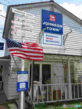 圏央道の入間出口から10分ほどのところにある「ジョンソンタウン」は、戦後に米軍関係者の住居として使われていた敷地を再整備し生まれました。アメリカンな街並みに、カフェやレストラン、アパレルショップなどが立ち並び、まるで海外にいるような気分を楽しめます。