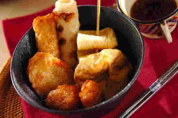 こちらはコチュジャンや焼き肉のタレをつける韓国風のおでん。コチュジャンダレとの相性もよさそうですよね。