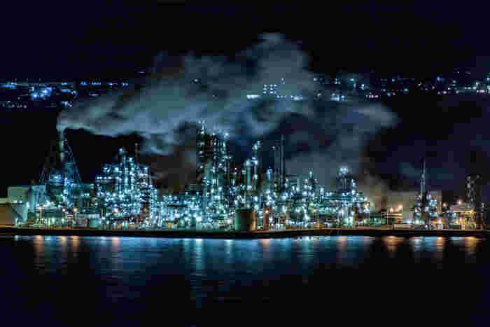 日本五大工場夜景(北海道室蘭市、神奈川県川崎市、三重県四日市市、山口県周山市、福岡県北九州市)の一つに数えられる室蘭市は、北海道を代表する工業地帯です。