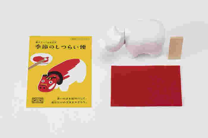 【セット内容】 ●張子(会津) ●木札 ●敷布 ●歳時記のしおり   真っ白な丑は、「赤べこ」の発祥地でもあり、400年近い歴史をもつ福島県・会津の張子。工芸への思いを強く持った「中川政七商店」ならではのこだわりが、ここにも詰まっています。  張り子は絵の具やペンで着色が可能なので、お子さんの年齢に合わせて手軽に絵付け可能ですよ。