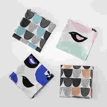 フィンランドの「カウニステ」のデザイナー達が手掛けたハンカチ。種類は全4種。どれも春にぴったりな優しい色合いで、鞄から出すのが嬉しくなってしまうような可愛らしいデザインです。