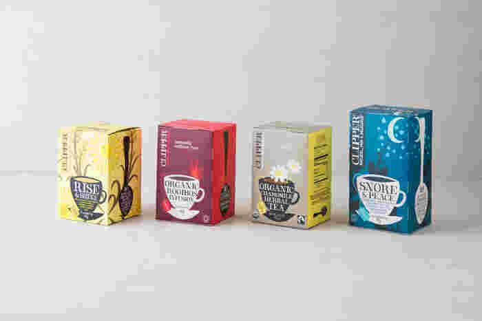イギリス生まれの紅茶ブランド「CLIPPER(クリッパー)。イギリス海峡に面しているドーセットという田舎町で、1984年に創業、可愛らしいパッケージにも注目ですが、しっかり有機JAS認証、フェアトレード認証を受けたオーガニックティーを扱っていたりと、本格品質で高評価を得ています。