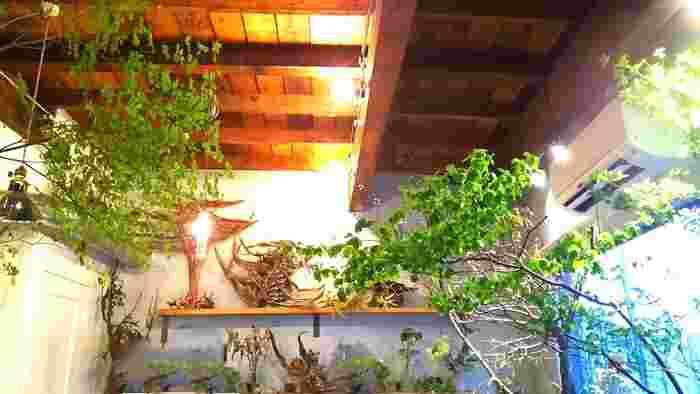 店内には色とりどりのお花や緑が飾られて、美しい植物達に囲まれながら可愛いスイーツでひと休みすることができます。