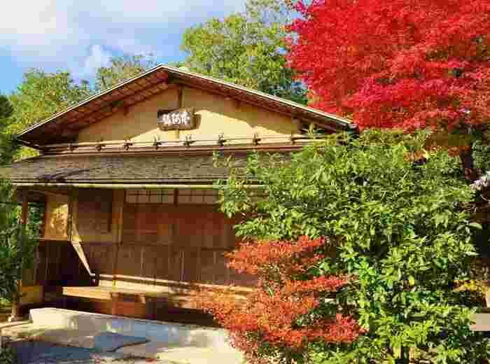 7つのお茶室がある庭園は、隅々までお手入れが行き届き、太い竹で組まれた『光悦寺垣』と呼ばれる垣根があって、隅々にまでこだわった光悦の美意識を感じることができます。