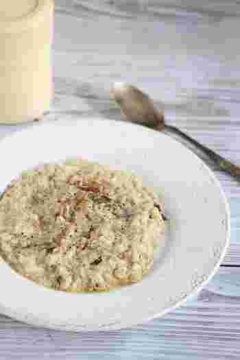 イタリア料理には欠かせないリゾットもパエリアと同様、お米は洗わずに使います。少し芯を残したアルデンテを楽しめるのもジャバニカ米のいい所ですね。