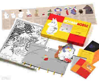 モビール本体のほかに、キャラクター紹介の小冊子やA3サイズのムーミン谷の地図もセットになっています♪意外と大きい地図はポスターのように壁に飾って楽しむこともできますね。