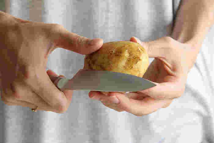 充実したキッチンでじゃない場所では、ペティナイフくらいが小回りが利いて使いやすい。置き場所や持ち運びのストレスも少なくて済みます。