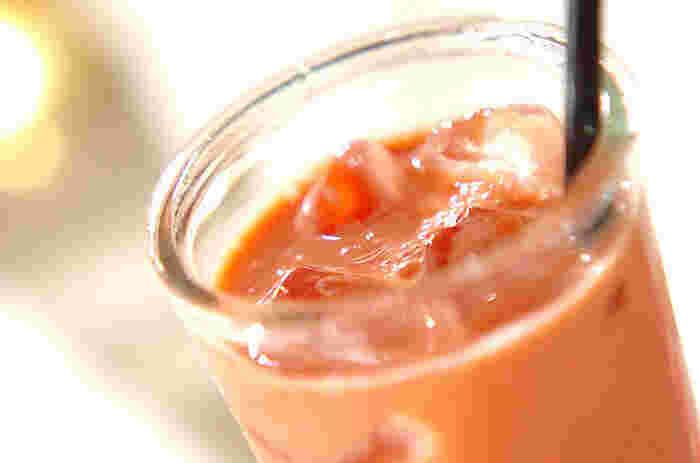 ヘルシーで低カロリーな、女性に嬉しいソイドリンクです。お好みではちみつを加えると、より飲みやすくなりますよ。