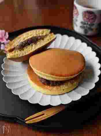 どら焼きがホットケーキミックスで作れるなんて、本当にお手軽ですね。