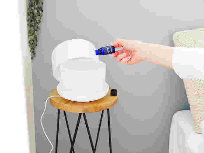 ディフューザーに垂らせば、空間そのものがさわやかな香りと虫除け効果に包まれます。 ミストタイプを使うときは、肌に直接触れないよう、ファブリックや洋服などにふきつけて。