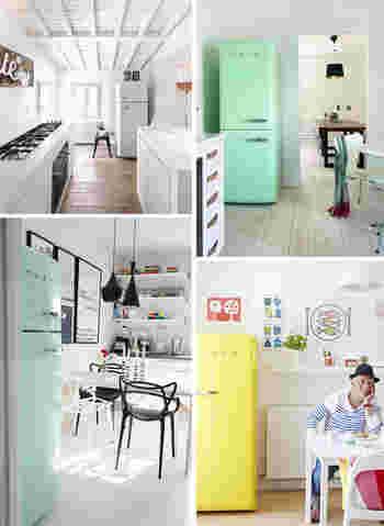 他にも全自動洗濯機やオーブンなどの家電があります。どれもカラフルなラインナップがうれしいSMEGの家電をお部屋に迎えてみてはいかがでしょう。