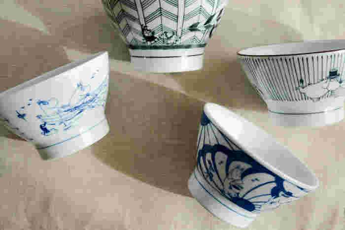 お茶碗に描かれたムーミンの世界観が、どこかユーモラス。全種類揃えたくなるほどの可愛らしさです。普段使いのお茶碗を、お気に入りのキャラクターで揃えられるなんてうれしいですね。