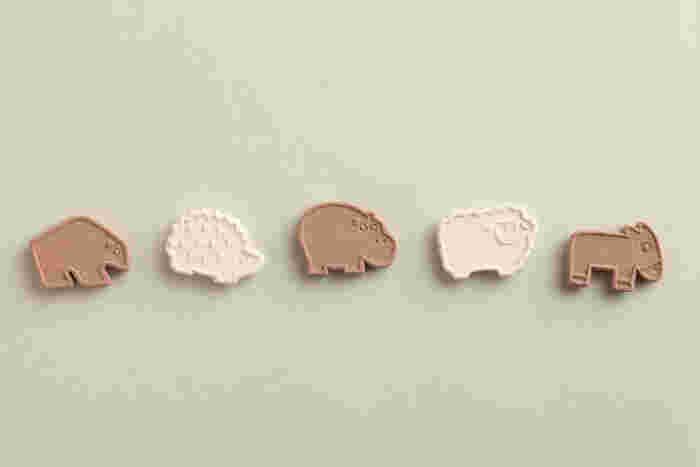 動物型で子どもも喜ぶお干菓子を、と作られた「animal(アニマル)」