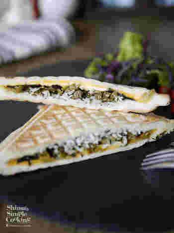 シラスやのりといった和の食材もおすすめ。高菜の炒め物もいいアクセントになっていて、大人な食感&味覚を楽しめます。