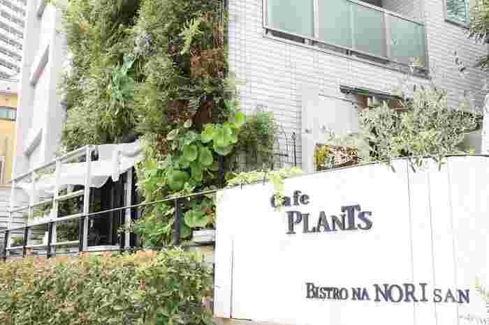緑あふれる古石場親水公園沿い、水路に面した隠れ家的カフェ「プランツ(Plants)」。 美しい道、美しい石畳。カフェとしてもレンタルスペースとしても有名なお店。テラスも人気です。