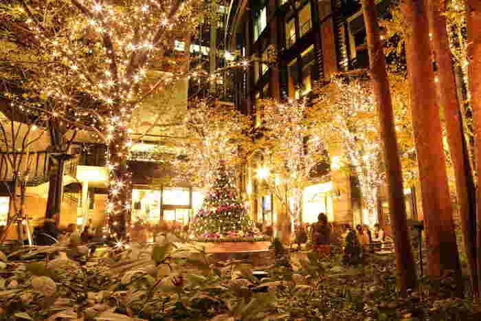 JR東京駅の南口から徒歩約5分、JR有楽町駅の国際フォーラム口からも徒歩約5分、毎年素敵なクリスマスイルミネーションで有名な、丸の内ブリックスクエア。