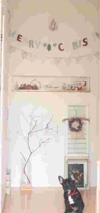 枝だけのクリスマスツリーはどんなインテリアにもスッキリととけ込んでくれます。シンプルなツリーには、シンプルであたたかみのあるオーナメントを。