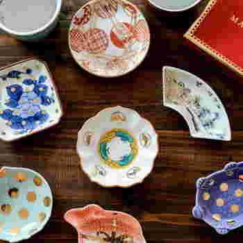 いろんな形やデザインが楽しめる豆皿(小皿)です。ゲストの雰囲気に合わせて、揃えてみるのも十分な「おもてなし」になりそうですね。