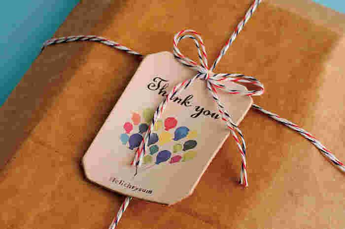 プレゼントのラッピングに添えてもおしゃれ度がグンとあがりますね!