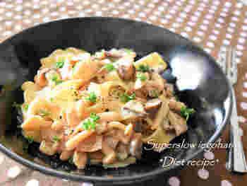 トリュフ、松茸と並んで、世界三大きのこのひとつに数えられるポルチーニ茸。とても濃厚な風味が特徴で、お料理をワンランクアップさせてくれます。写真は、ポルチーニのクリームパスタ。まるでお店のようなおいしさだとか。