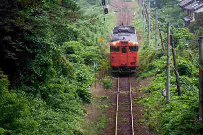 人里離れた鬱蒼としげる森の中にある秘境駅に、列車が乗り入れる瞬間は情緒満点です。秘境駅では、日本に鉄道が乗り入れたばかりの開拓時代を彷彿とさせるノスタルジックな雰囲気が漂っています。