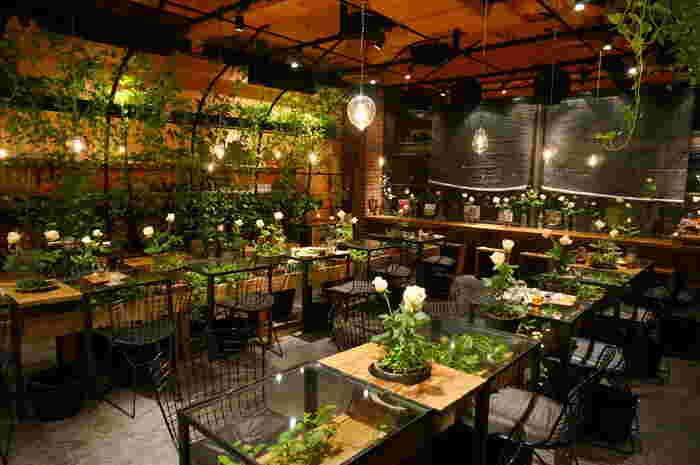 東京メトロ銀座線・半蔵門線・千代田線 表参道駅を降りてすぐ!青山フラワーマーケットの中にあるティールームです。まるで温室のような花や緑にあふれる空間の中で、リラックスして紅茶を楽しむことができます。