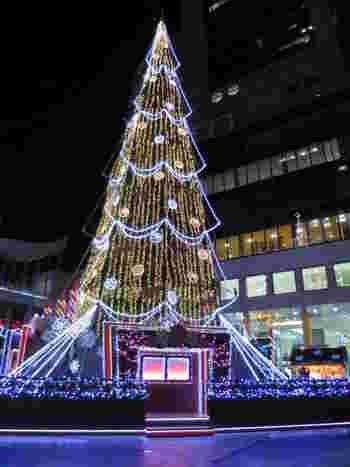 毎年美しいマーケットのシンボル的存在のクリスマスツリーはフォトスポットです。