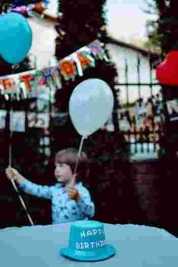 「昨年はあのキャラクターのお誕生日パーティーがいいって言ってたのに、今年は違うのね」となったり。毎年やってくるお誕生日パーティーは1番成長を感じる絶好の機会かもしれません。 その時に子どもが、今夢中になっているものをたくさん聞いて、大好きなものでいっぱいのパーティーを計画しましょう。