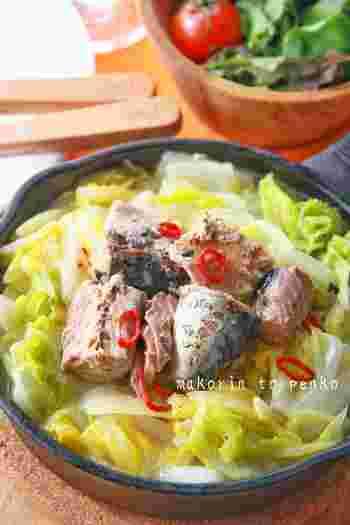 白菜のトロリとした食感としっかりとした食べごたえのあるサバの相性は抜群。あっという間に作れるスピードレシピなので、ひと品足りないときに覚えておきたいレシピです。