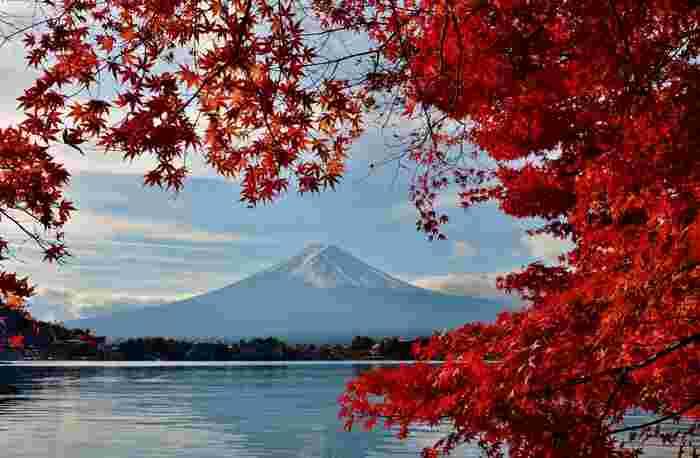 富士山の山梨県側の麓にある5つの湖、精進湖(しょうじこ)・本栖湖(もとすこ)・西湖(さいこ)・河口湖(かわぐちこ)・山中湖(やまなかこ)の5つの湖からなる富士五湖は、富士山と湖という美しい風景が楽しめると人気の観光スポットです。四季折々の自然の色合いを楽しめる5つの湖は、全てが国の名勝に指定されているだけでなく、2013年には世界文化遺産として登録されました。