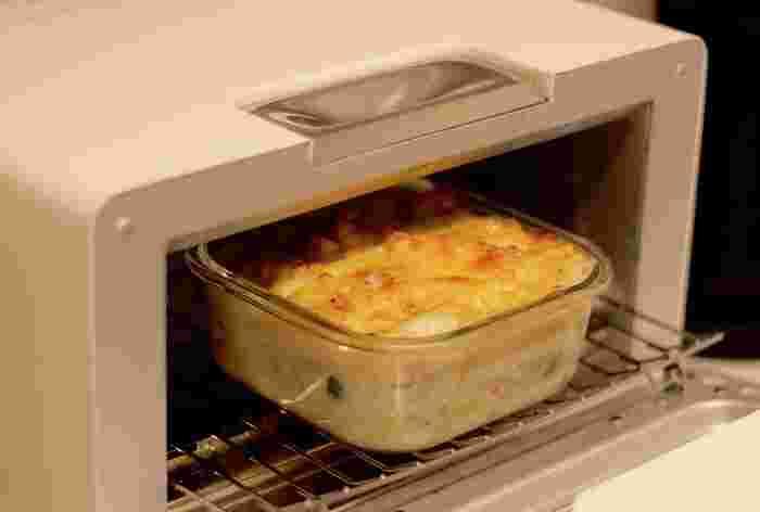 大きなグラタンづくりにもぴったり。オーブン〇なので、もちろんオーブントースターも〇ですよ。