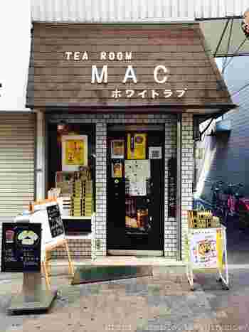 昭和のレトロな風情のある店構え。