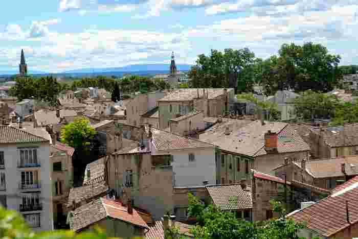 小高い丘となっているロシェ・デ・ドン公園からは、アヴィニョン旧市街を一望することができます。
