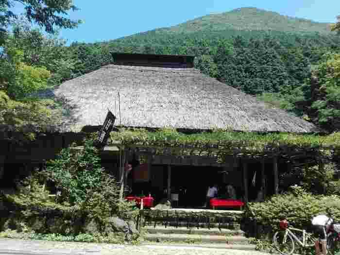 東海道五十三次で知られる「旧東海道」内、小田原宿から三島宿までの「箱根八里(箱根旧街道)」は、天下の難所として有名です。江戸期以降、歩行が楽な石畳の道へ整備されましたが、現在もその一部が保存されています。  400年以上の歴史を誇る「甘酒茶屋」は、往時の雰囲気を留めた風情ある茶屋。現在は、ハイカーやドライバーの絶好の休憩ポイントとなっています。