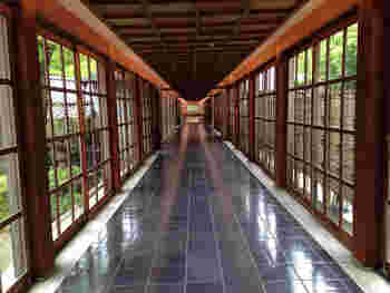 モダンなアールデコ様式で意匠された内装は、当時のまま。よくお手入れされた廊下を歩くとタイムスリップしたような気持ちになりますね。